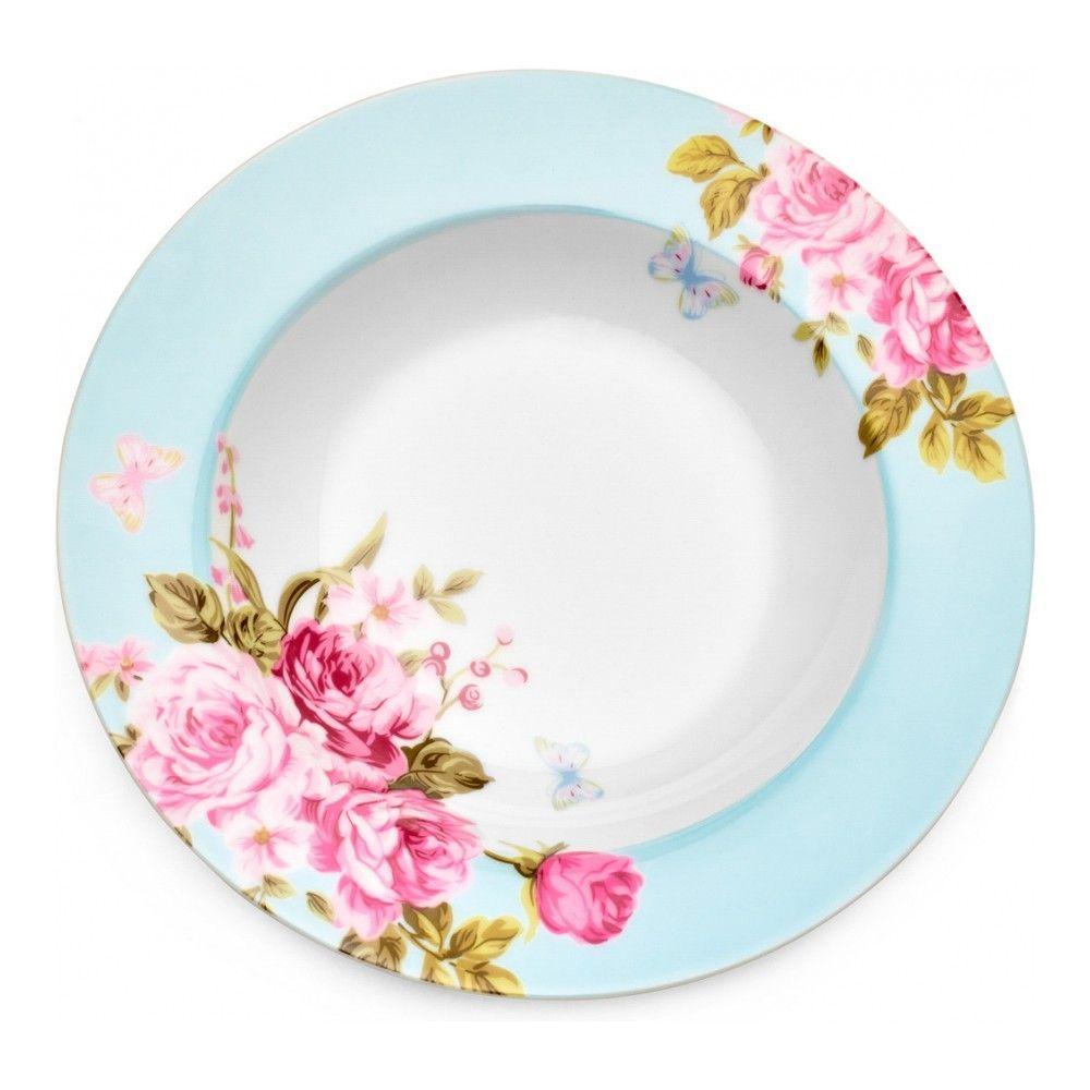 Тарелка суповая Walmer Mirabella Blue, 21.5см, цвет голубой изображение №0