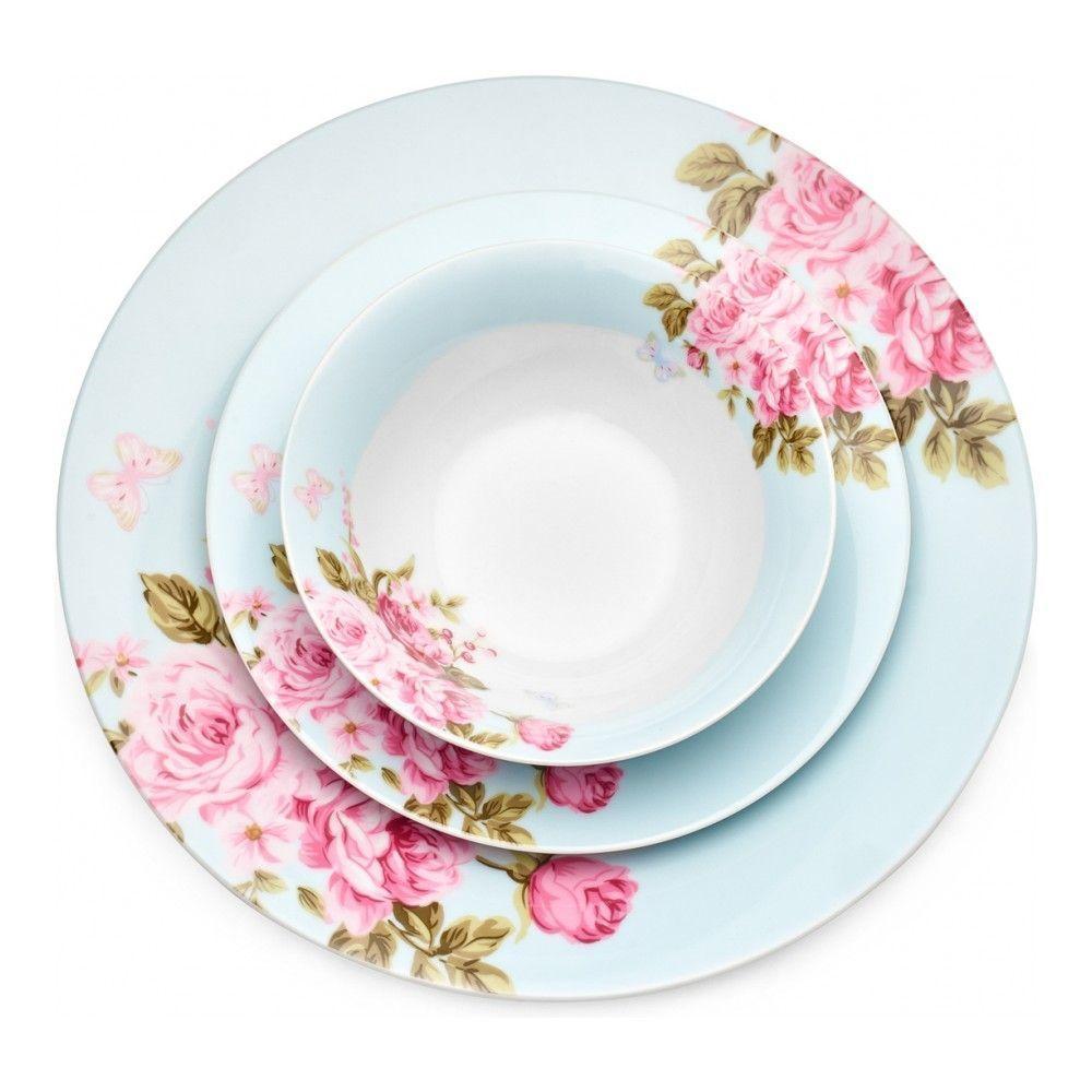 Тарелка десертная Walmer Mirabella Blue, 19см, цвет голубой изображение №1