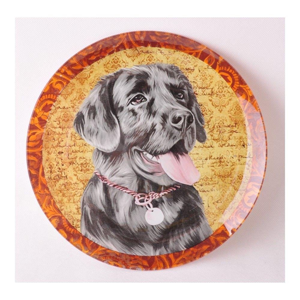 Блюдо сервировочное Walmer Dogs Лабрадор, 25см, цвет цветной изображение №0