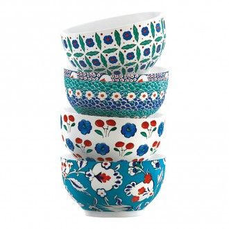 Набор мисок Kitchen Craft V&A Iznik 4 шт., 12.5см