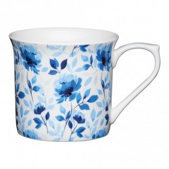 Кружка Kitchen Craft Blue Rose, 0.3 л, цвет индиго