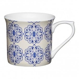 Кружка Kitchen Craft Blue Filigree, 0.3 л, цвет синий