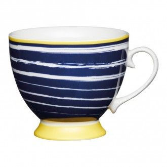 Кружка Kitchen Craft Navy Stripes, 0.4 л, цвет индиго