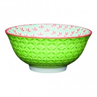 Миска Kitchen Craft Geometric Lime, 15.5 см, цвет зеленый