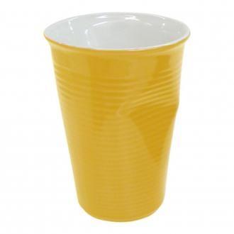 Стаканчик мятый керамический Mondo Ceram, 0.24л, желтый DOMOS 265.000