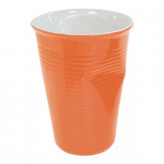 Стаканчик мятый керамический Mondo Ceram, 0.24л, оранжевый DOMOS 265.000