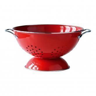 Дуршлаг эмалированный Premier Housewares, красный DOMOS 709.000