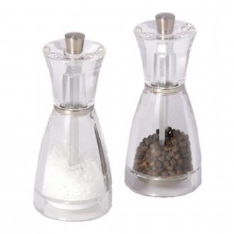 Набор мельниц 2шт. для перца и соли Cole&Mason Pina, прозрачный DOMOS 1335.000