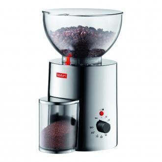 Электрическая жерновая кофемолка BODUM Antigua, хром DOMOS 8745.000