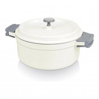 Кастрюля с крышкой с керамическим покрытием Bekadur Ceramica BEKA Cook'On, 2.4л, белый DOMOS 3389.000
