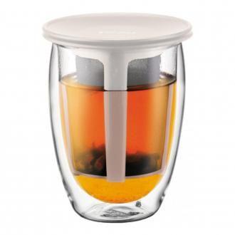 Термобокал с фильтром BODUM Tea for One, 0.35л, белый DOMOS 1125.000