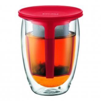 Термобокал с фильтром BODUM Tea for One, 0.35л, красный DOMOS 1125.000