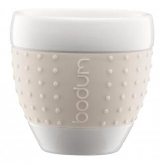 Набор стаканов (2 штуки) BODUM Pavina, 0.25л, белый DOMOS 819.000