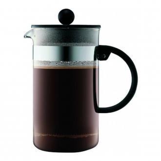 Кофейник френч-пресс BODUM Bistro, 1л, чёрный DOMOS 1369.000