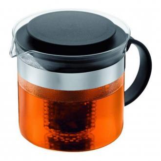 Чайник заварочный с сито-фильтром BODUM Bistro, 1л, чёрный DOMOS 1325.000