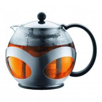 Чайник заварочный с металлическим прессом BODUM Kenya, 0.5л, хром DOMOS 2835.000