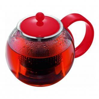 Чайник заварочный с пластиковым прессом BODUM Assam, 1л, красный DOMOS 1269.000
