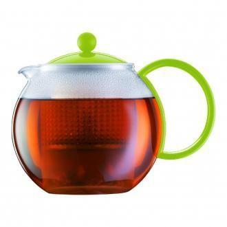 Чайник заварочный с пластиковым прессом BODUM Assam, 1л, зеленый DOMOS 1269.000