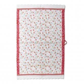 Чайное полотенце PiP Studio Цветы белое, белый DOMOS 639.000