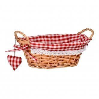 Корзинка овальная для хлеба Premier Housewares, красный