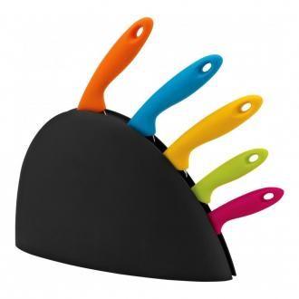 Набор 5 ножей в подставке Premier Housewares, цветной DOMOS 1115.000
