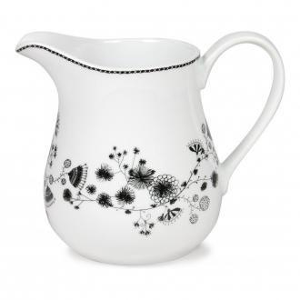 Кувшин для молока Miss Blackbirdy, 1.3л, черно-белый DOMOS 939.000