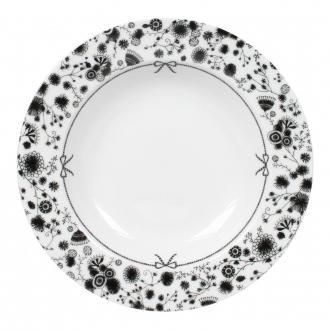 Тарелка суповая Miss Blackbirdy Цветок, черно-белый DOMOS 419.000