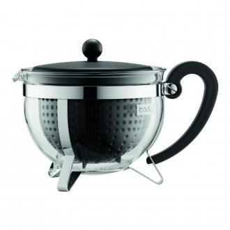 Чайник заварочный сито-фильтр Bodum Chambord, 1.5л, чёрный DOMOS 2279.000