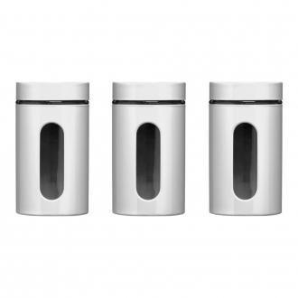 Набор банок для хранения Premier Housewares 3 предмета, 1л, белый DOMOS 1389.000