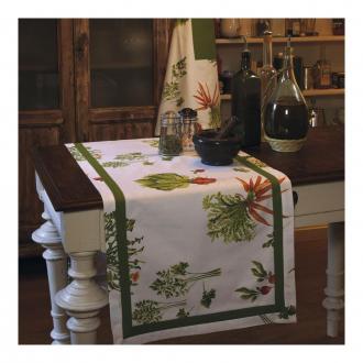 Скатерть Tessitura Ratatouille, зеленый DOMOS 4899.000