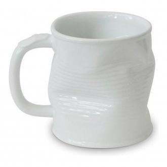Кружка мятая керамическая Ceraflame, 0.32л, белый DOMOS 529.000