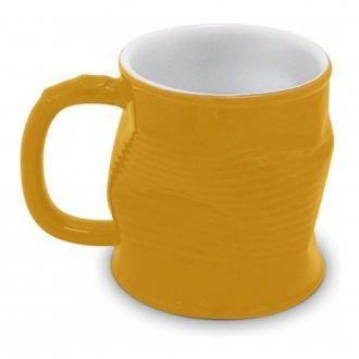Кружка мятая керамическая Ceraflame, 0.32л, желтый DOMOS 529.000