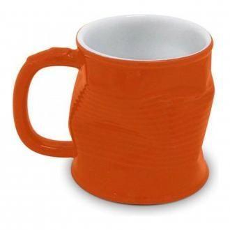 Кружка мятая керамическая Ceraflame, 0.32л, оранжевый DOMOS 529.000