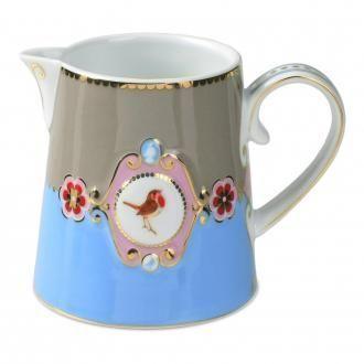 Сливочник Pip Studio Lovebirds 270мл с медальоном, 0.27л, голубой DOMOS 559.000
