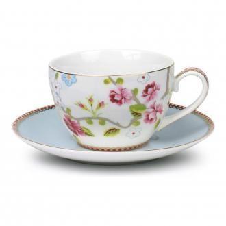 Набор Pip Studio Чашка для каппучино 280 мл и блюдце Роза, белый DOMOS 519.000
