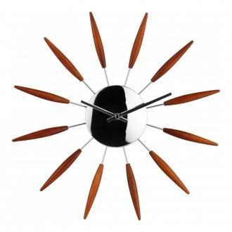 Часы настенные Premier Housewares с коричн лучами DOMOS 1619.000