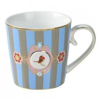 Кружка Pip Studio Lovebirds 250мл с медальоном, 0.25л, голубой DOMOS 459.000