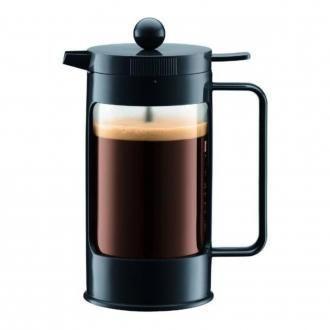 Кофейник френч-пресс BODUM Bean, 0.35л, чёрный DOMOS 1359.000