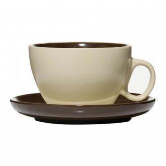 Набор чайный Premier Housewares Chock & Cream Чашка и Блюдце, 0.3л, в ассортименте DOMOS 349.000