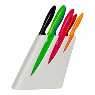 Набор 6 ножей в Zyliss подставке, белый DOMOS 4179.000